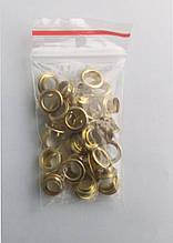 Блочки для взуття (заклепки) золото(40шт) комплект
