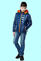 Стильная детская демисезонная куртка с контрастной молнией и капюшоном. 30.32.34.36.38.40.42