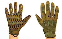 Перчатки тактические с закрытыми пальцами BLACKHAWK (рр L-XL, оливковый)