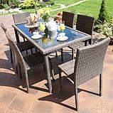 Набір меблів з штучного ротангу: стіл + 6 крісел, фото 5