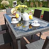 Набір меблів з штучного ротангу: стіл + 6 крісел, фото 6