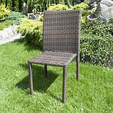 Набір меблів з штучного ротангу: стіл + 6 крісел, фото 7
