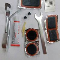 Ремнабор велосипедиста + гаечный ключ, ремкомплект для велосипеда, велоаптечка