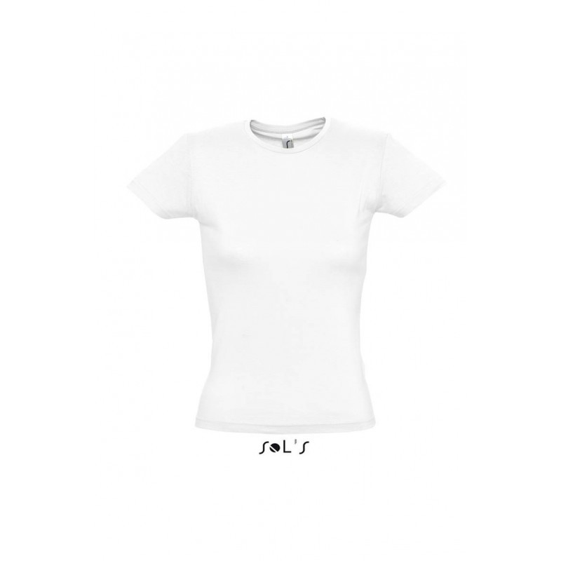Футболка белая, SOL'S MISS, размеры от S до XXL