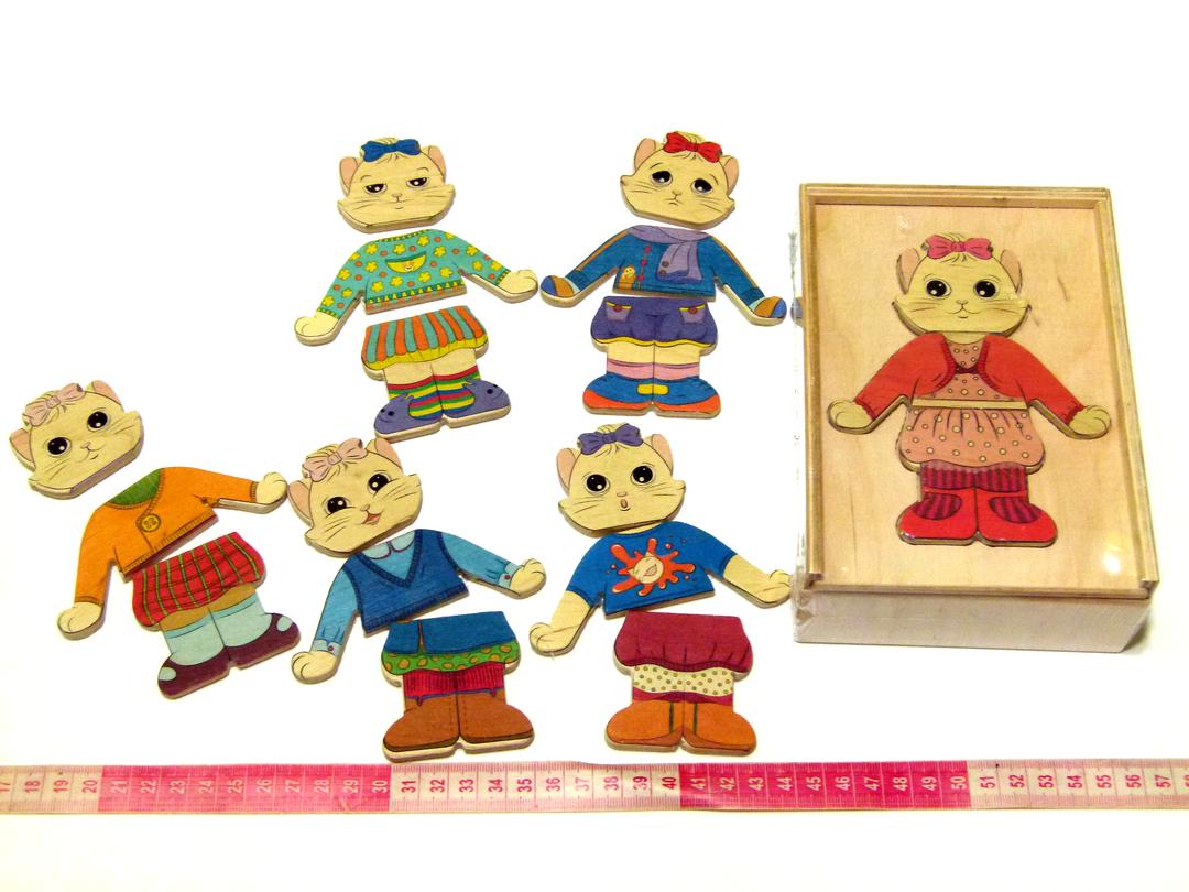 Іграшка Вкладиші - гардероб Одягайка Кішечка Розумний Лис (90025)