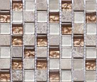 Мозаика камень стекло Progress CS06 бежевая