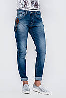 Женские синие джинсы бойфренды