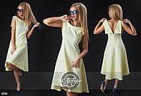 Ассиметричное платье с открытой спиной 3 цвета