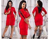 Платье с гипюром - 11754