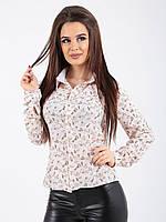 Рубашка абстрактный принт пудра, фото 1