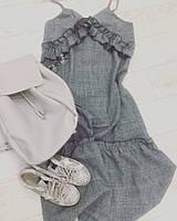 Платье-комбинация в сером цвете