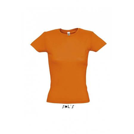 Футболка оранжевая, SOL'S MISS, размеры от S до XXL