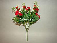 Искусственный  букет мелкой розы (цвет красный)
