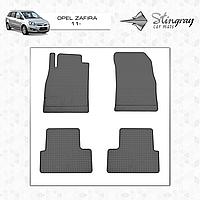 Коврики резиновые в салон Opel Zafira c 2011 передние (2шт) Stingray 1002022