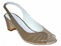Босоножки женские на устойчивом каблуке