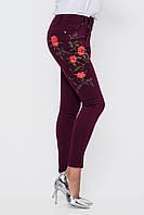 Женские джинсы высокая талия с вышивкой разные цвета