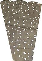 """Пакеты для цветов """"Горох"""" метал+рис (уп.100шт) 6x15x60"""