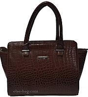 Коричневая женская сумочка с ушками