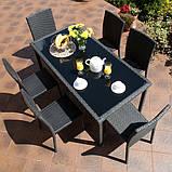 Набір меблів з штучного ротангу: стіл + 6 крісел, фото 8