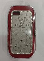 Чехол для iPhone 5/5s/SE LV soft drill shel, серебро
