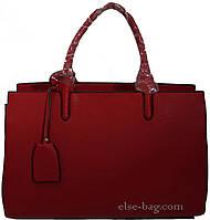 Красная классическая  женская  сумка, фото 1