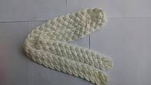Ремінь плетений білий