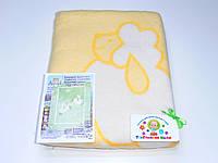 Хлопковое одеяло в роддом (желтое с барашками)
