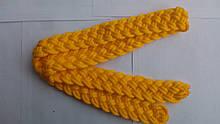 Ремінь плетений жовтий