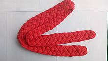Ремінь малиновий плетений