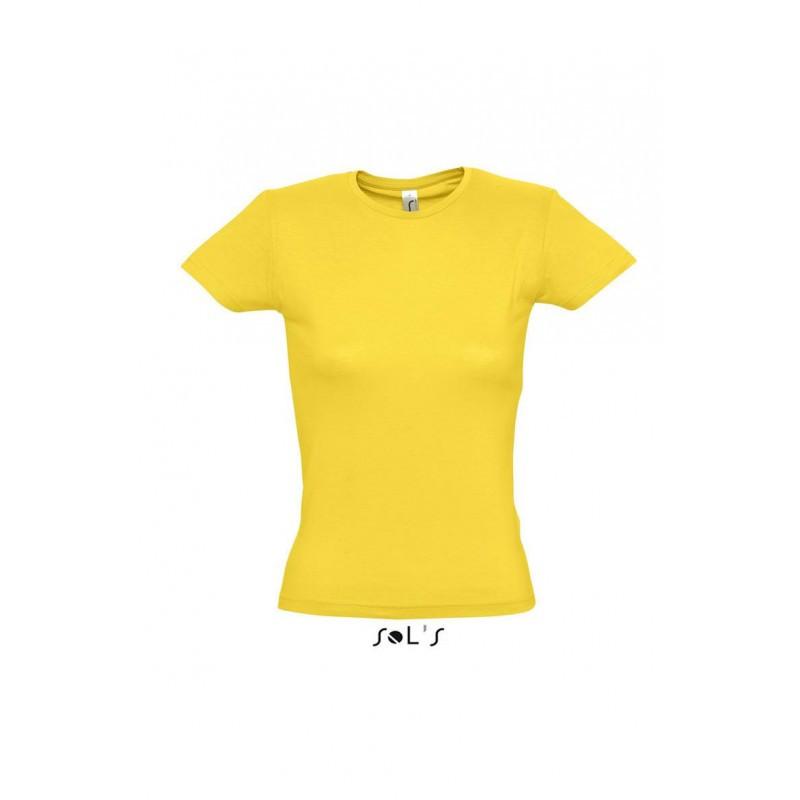 Футболка желтая, SOL'S MISS, размеры от S до XXL