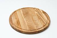 Доска клееная под пиццу 30 см (дуб,ясень)