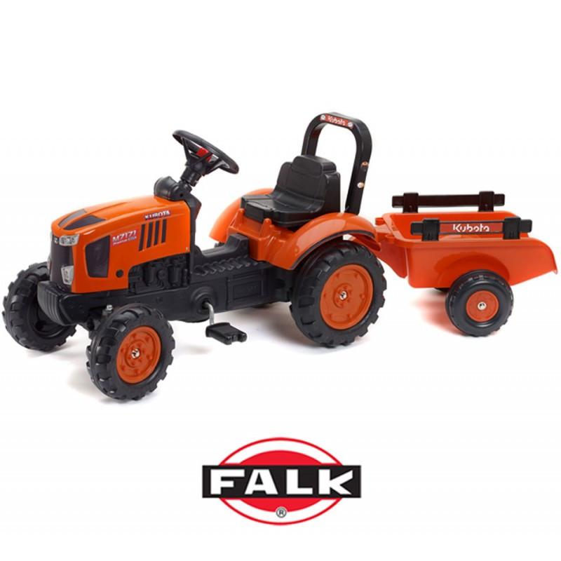 Трактор педальный c прицепом 2-5 лет Kubota Falk 2065AB