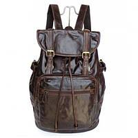 Рюкзак кожаный TIDING BAG 6001 коричневый