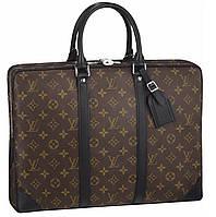 Кожаная сумка Louis Vuitton Porte Documents Voyage LV322