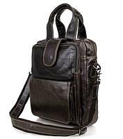 Сумка-мессенджер TIDING BAG 7266J серо-коричневая