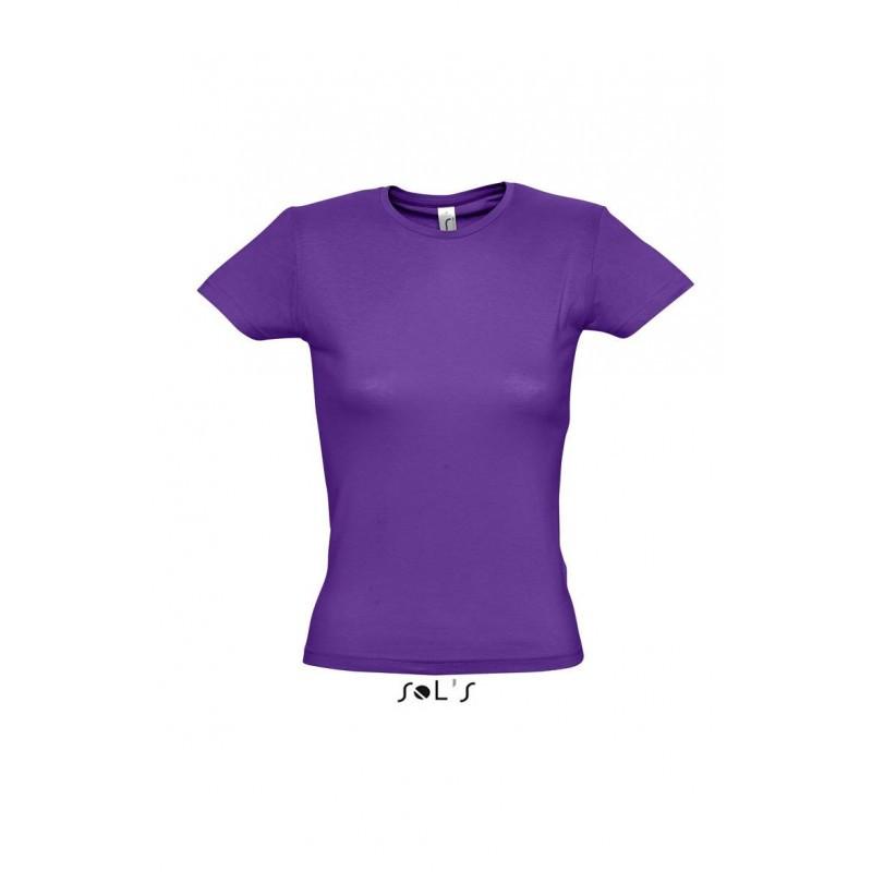 Футболка темно-фиолетовая, SOL'S MISS, размеры от S до XXL