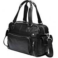 Дорожная кожаная сумка HAUTTON DB96A черная