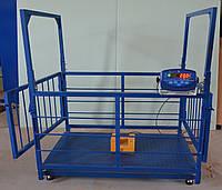 Весы для взвешивания мелкого рогатого скота ВПЕ-Trionyx-0712-0,3, до 300 кг, 700х1200 мм