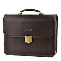 Мужской кожаный портфель Blamont Bn037C коричневый