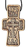 Крестик нательный (деревянный), фото 1