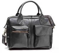 Мужская кожаная сумка TIDING BAG GB331A черная