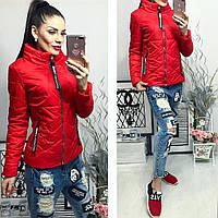 Куртка женская весеняя на молнии, ткань плащевка, 4 расцветки ,синтепон 120 фото реал вш №914