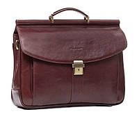 Мужской кожаный портфель Blamont Bn017R красно-коричневый
