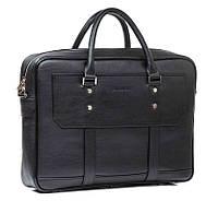 Мужская кожаная сумка Blamont Bn079A черная