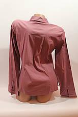 Женские однотонные рубашки (хлопок+ликра) Mod-da odnoton. battal увеличенные размеры, фото 3