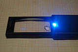 Лупа складная 2.5х+45х-кратная с двойной подсветкой + ультрафиолет, фото 5