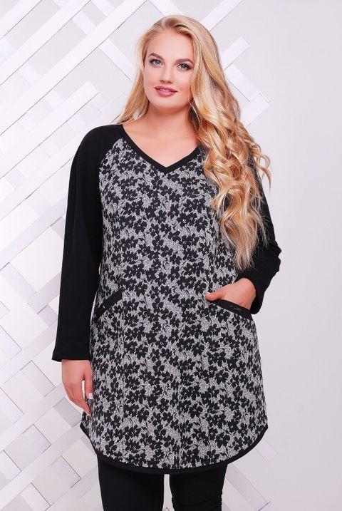 0b9e6aa759fd Женская туника большого размера Люси ТМ Таtiana 54-56 размеры - Интернет-магазин  одежды