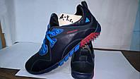 Мужские синие кожаные кроссовки. Украина.