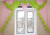 Ламбрекен на карниз 2м. №65 Розовый с салатовым
