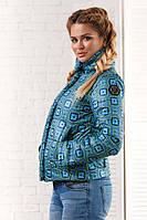 """Женская стильная короткая куртка на синтепоне  """"Philipp Plein Абстракция"""""""